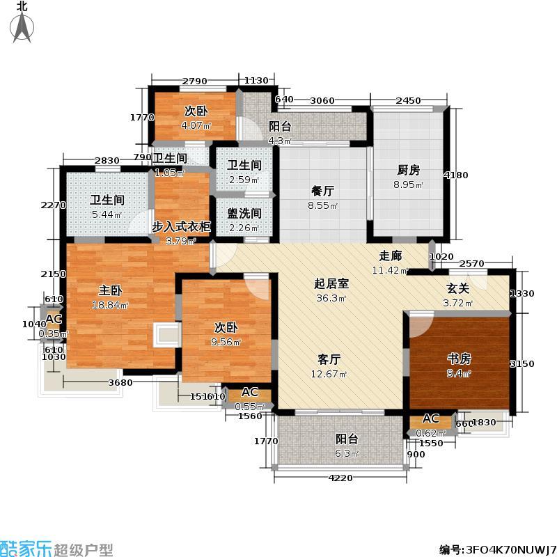 联洋花园天和苑房型125-180.59平方米LL