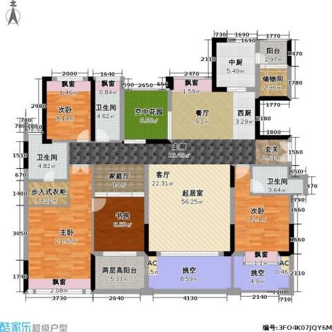 康城国际 中海康城花园4室0厅3卫0厨175.00㎡户型图