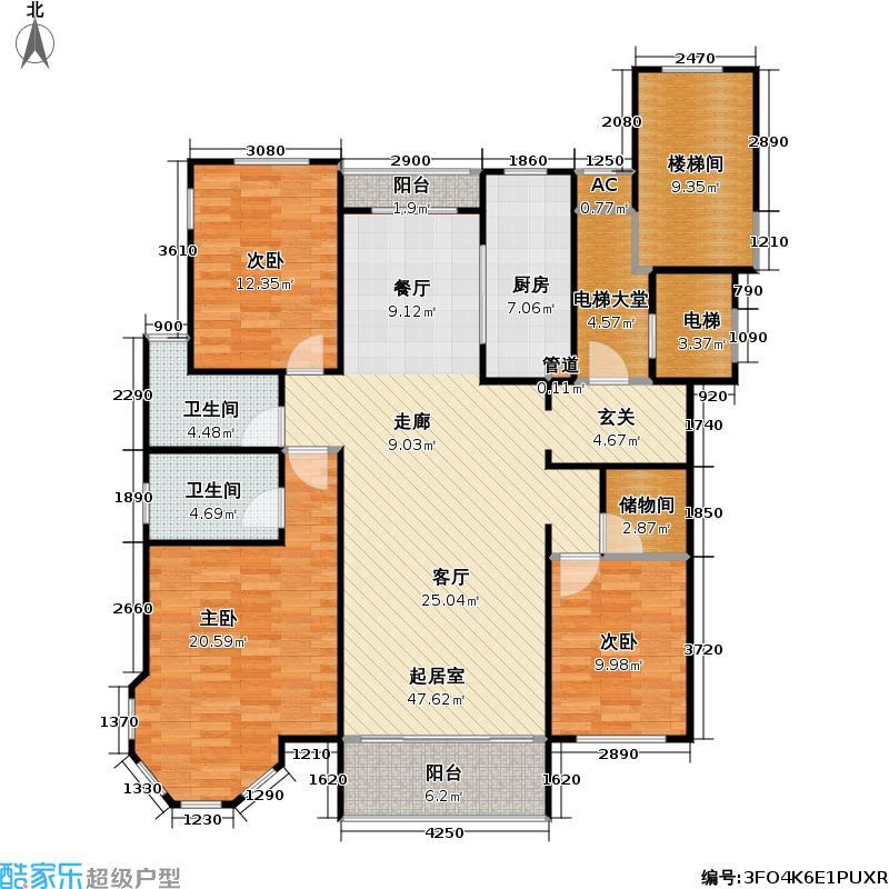 颐和星苑户型3室2卫1厨