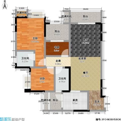 保利 椰风半岛3室0厅2卫1厨84.00㎡户型图