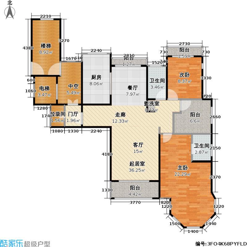 颐和星苑126.96㎡颐和星苑户型图三房,150平米(4/8张)户型10室