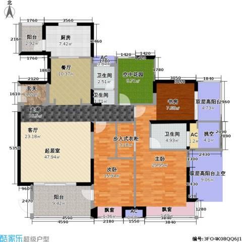康城国际 中海康城花园2室0厅2卫1厨161.00㎡户型图