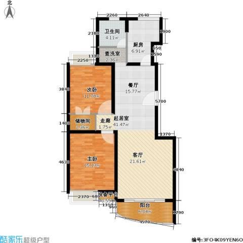 玲珑古北 新贵族名邸2室0厅1卫1厨100.00㎡户型图