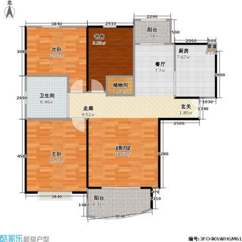 秋月枫舍二期3室0厅1卫1厨103.00㎡户型图