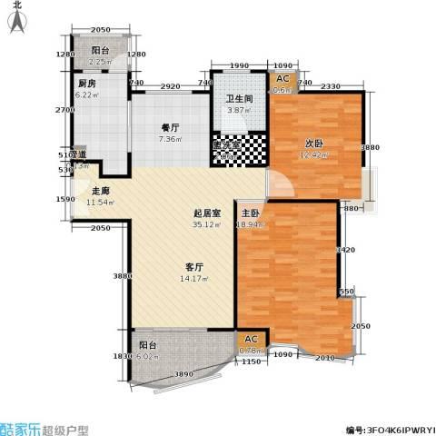 金沙丽晶苑一期2室0厅1卫1厨93.00㎡户型图