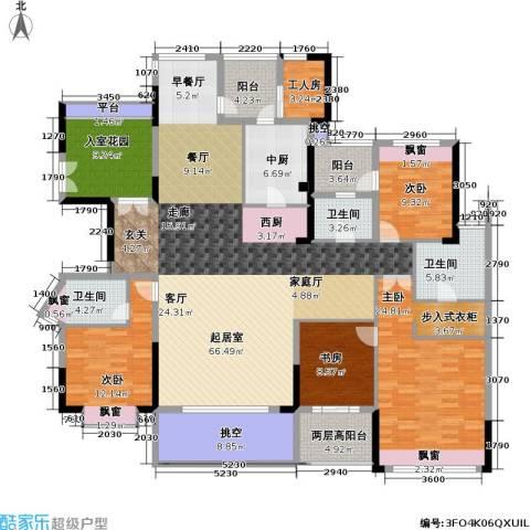康城国际 中海康城花园4室0厅3卫0厨201.00㎡户型图