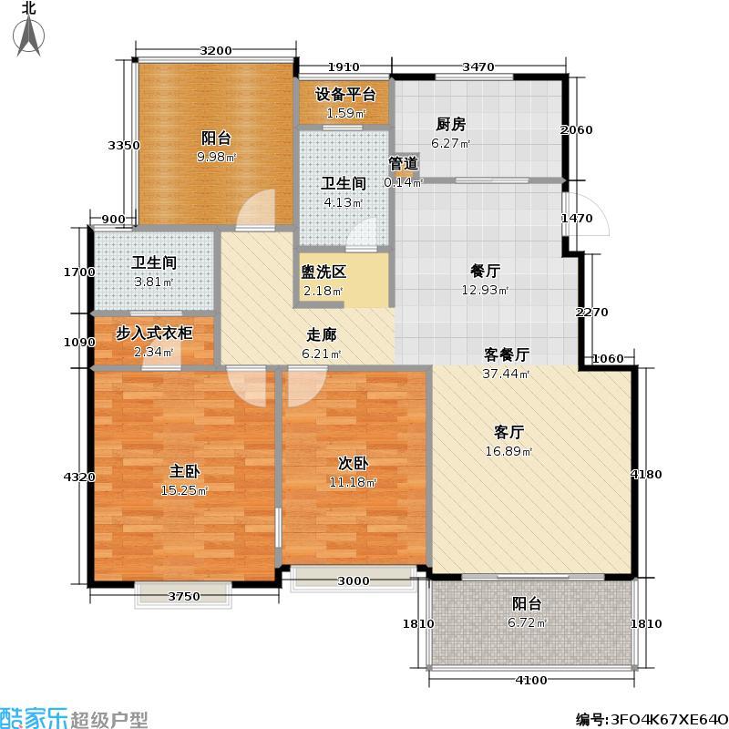 兰陵尚品兰陵尚品户型图三房二厅二卫:107㎡(11/13张)户型10室