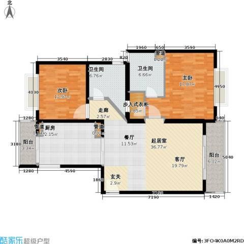 静安艺阁2室0厅2卫1厨119.00㎡户型图