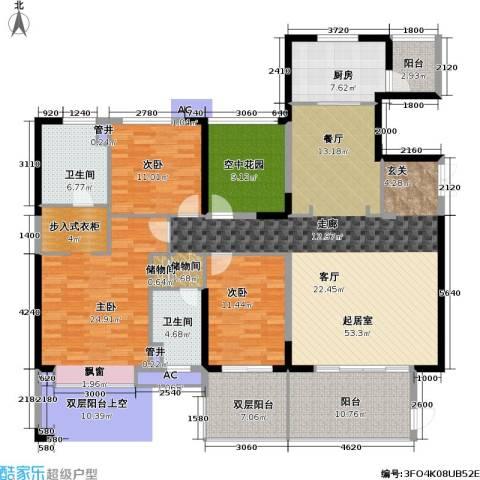 康城国际 中海康城花园3室0厅2卫1厨169.00㎡户型图