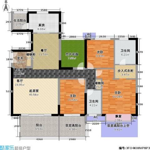 康城国际 中海康城花园3室0厅2卫1厨166.00㎡户型图
