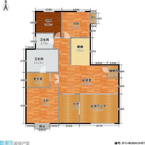 万城华府3室0厅2卫0厨126.00㎡户型图