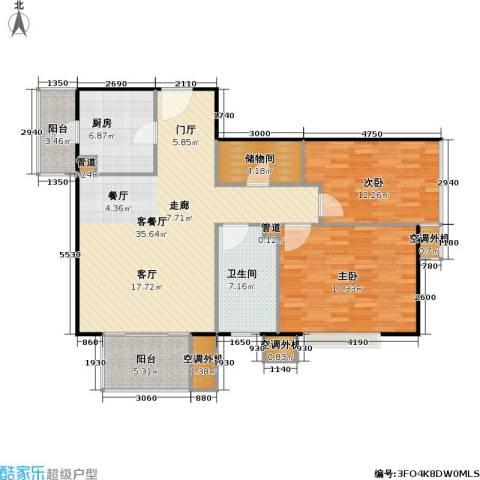彩虹街区2室1厅1卫1厨95.49㎡户型图