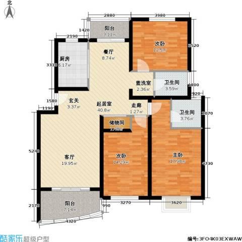 盛世馨园3室0厅2卫1厨158.00㎡户型图