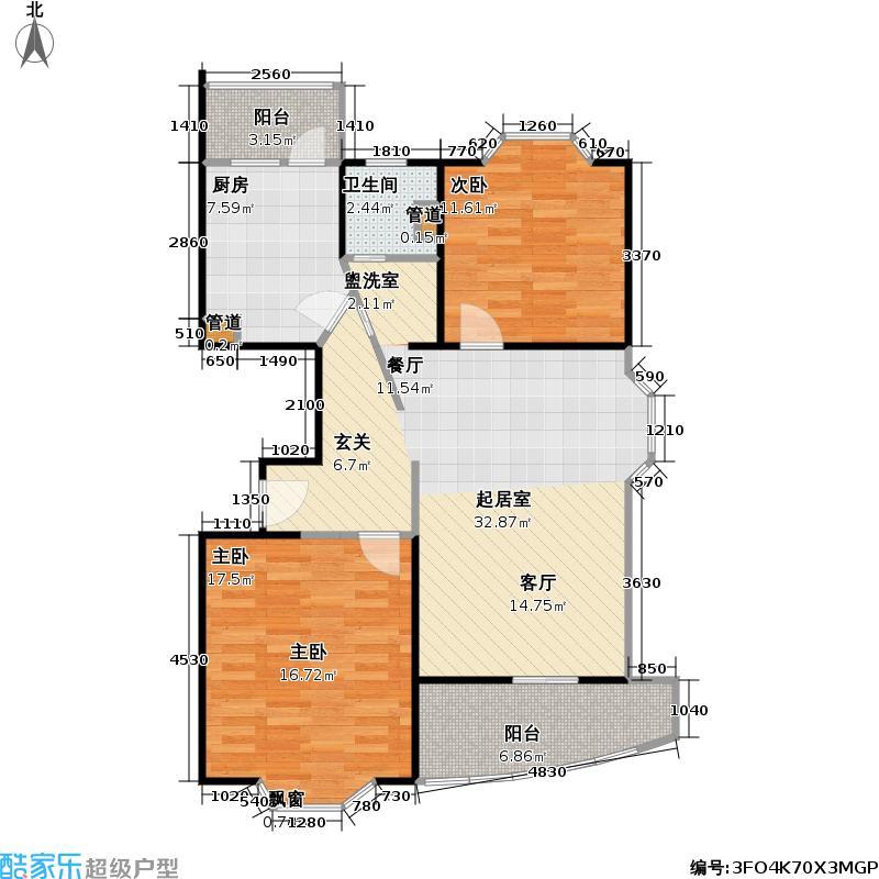 文定天下89.29㎡房型: 二房; 面积段: 89.29 -100.69 平方米; 户型