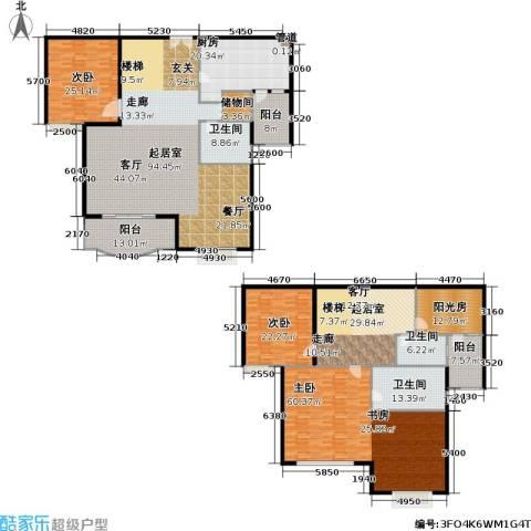华丽家族花园3室0厅3卫1厨325.72㎡户型图