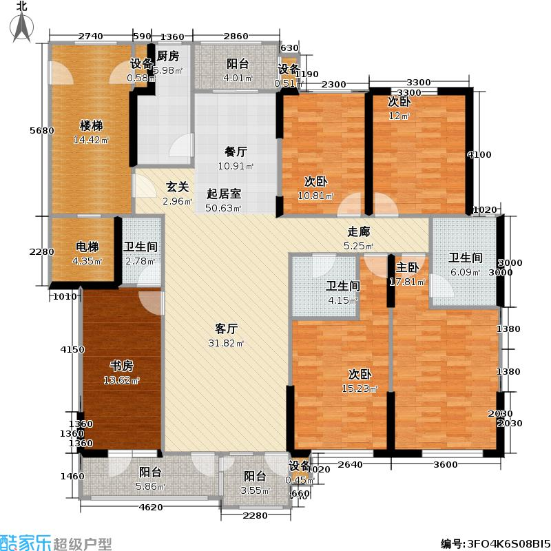 嘉泰星河一期177.32㎡5# D户型5室2厅2卫