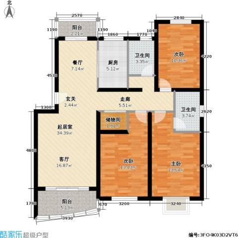 盛世馨园3室0厅2卫1厨107.00㎡户型图