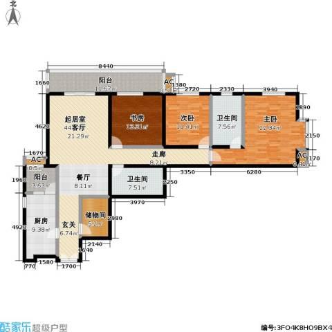 庚坊国际(好来屋)3室0厅2卫1厨157.00㎡户型图