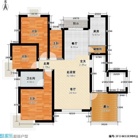滴翠苑 明园森林都市4室0厅1卫1厨118.00㎡户型图
