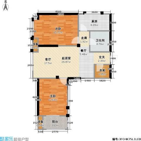 御海龙湾2室0厅1卫1厨101.00㎡户型图