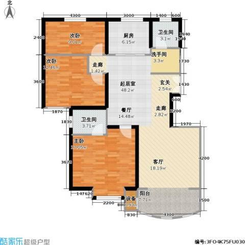 兴华童话世界3室0厅2卫1厨139.00㎡户型图