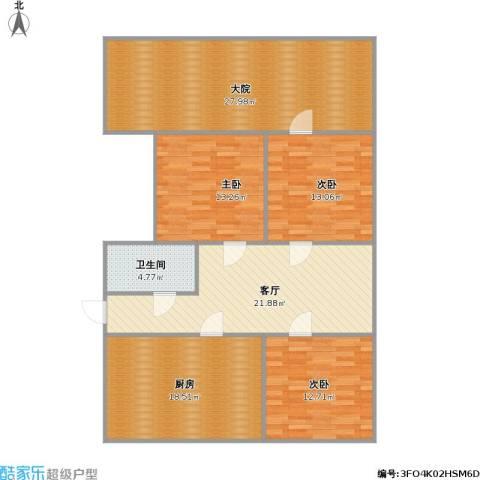南辛北街宿舍3室1厅1卫1厨149.00㎡户型图