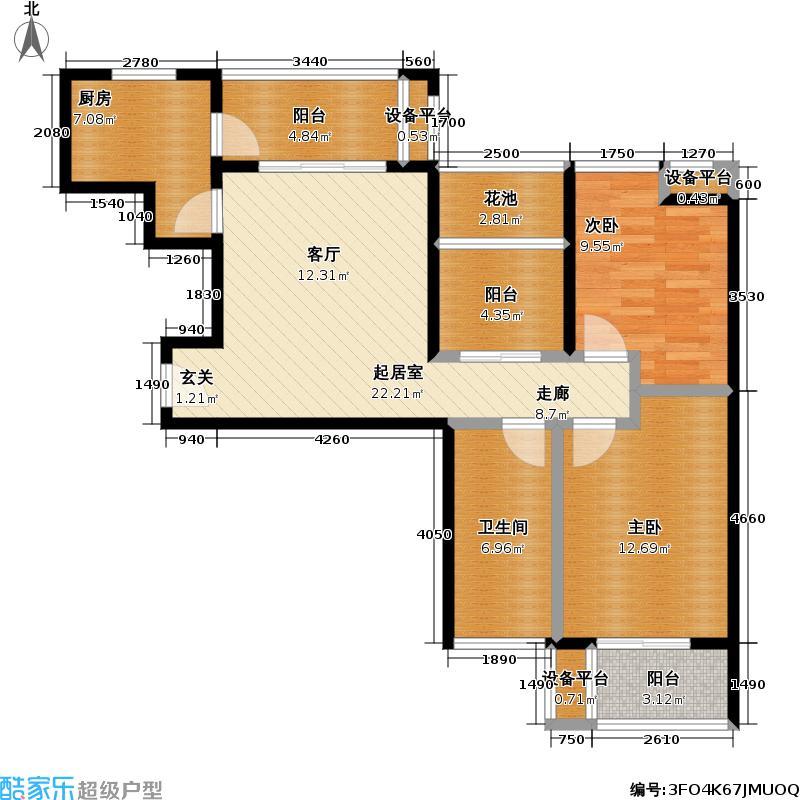 三金鑫城国际85.34㎡三金鑫城国际户型图C9户型两室两厅一卫(1/9张)户型10室