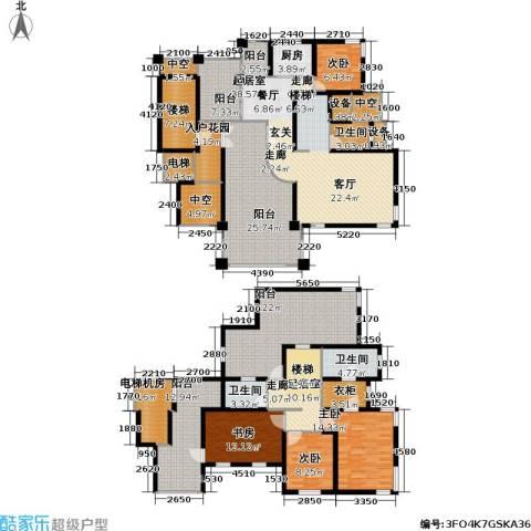 中金玫瑰湾二期4室0厅3卫1厨214.00㎡户型图