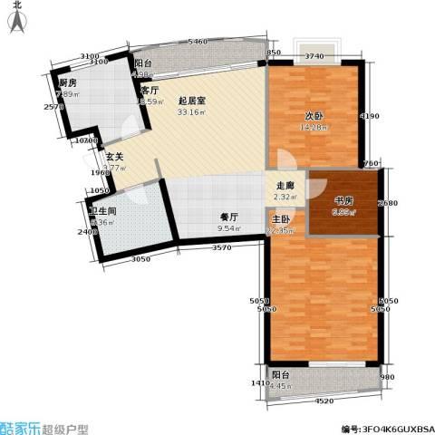 芳卉园(三期)3室0厅1卫1厨116.00㎡户型图