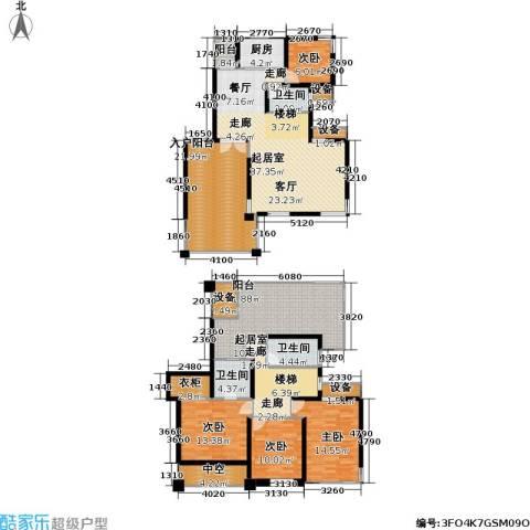 中金玫瑰湾二期4室0厅3卫1厨187.00㎡户型图