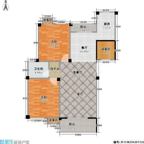 阳湖名城2室1厅1卫0厨113.00㎡户型图