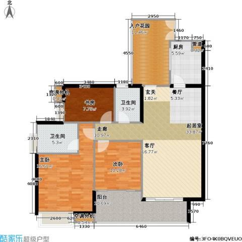 光大榕誉 光大花园 水榕苑3室0厅2卫1厨131.00㎡户型图