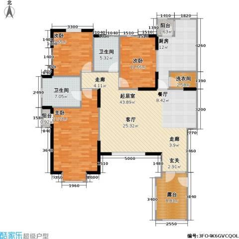 万科魅力之城尊域3室0厅2卫1厨172.00㎡户型图