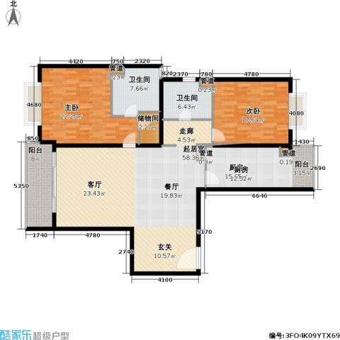 静安艺阁2室0厅2卫1厨154.00㎡户型图