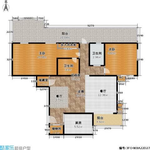金晖嘉园2室0厅2卫1厨103.00㎡户型图
