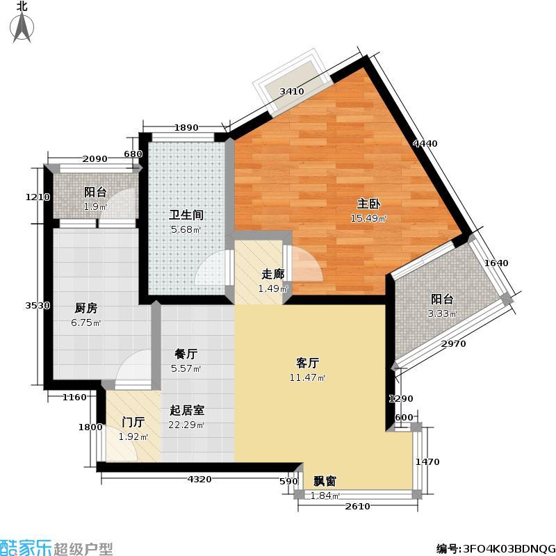 嘉富丽苑62.00㎡房型户型