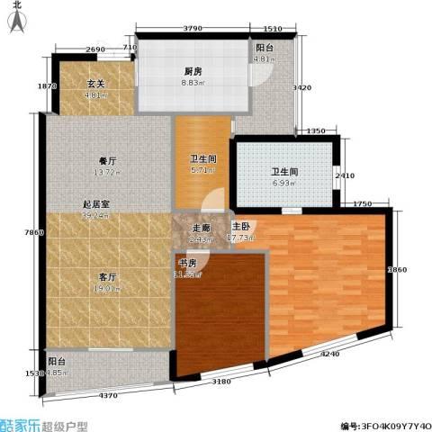 静安四季苑2室0厅2卫1厨110.00㎡户型图