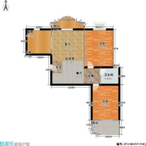 静安苏堤2室0厅1卫1厨100.00㎡户型图