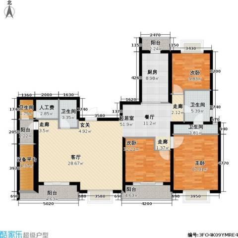 静安艺阁3室0厅4卫1厨154.00㎡户型图