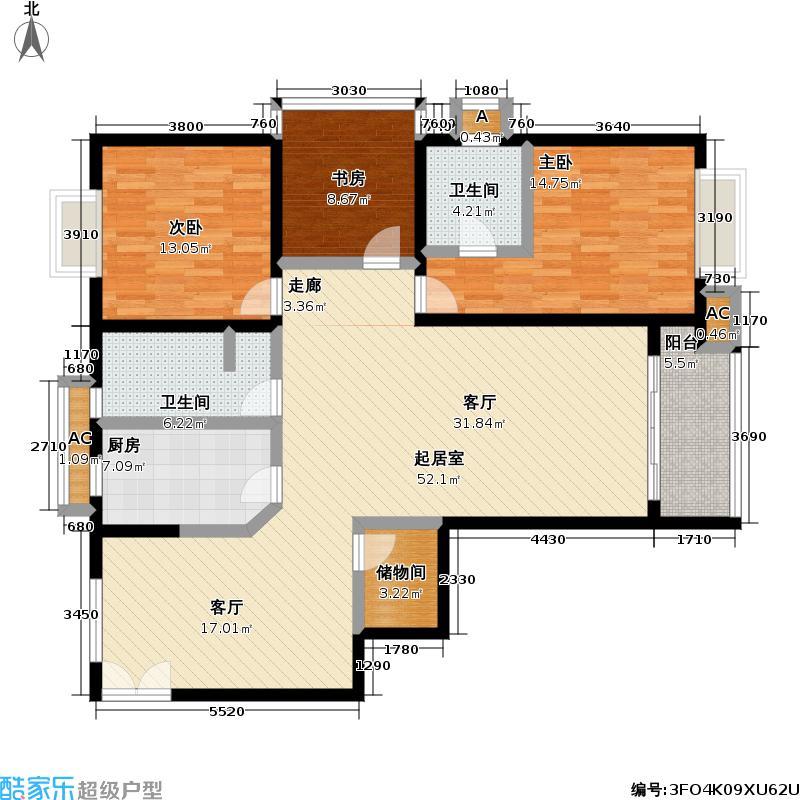 南林公寓135.00㎡房型户型