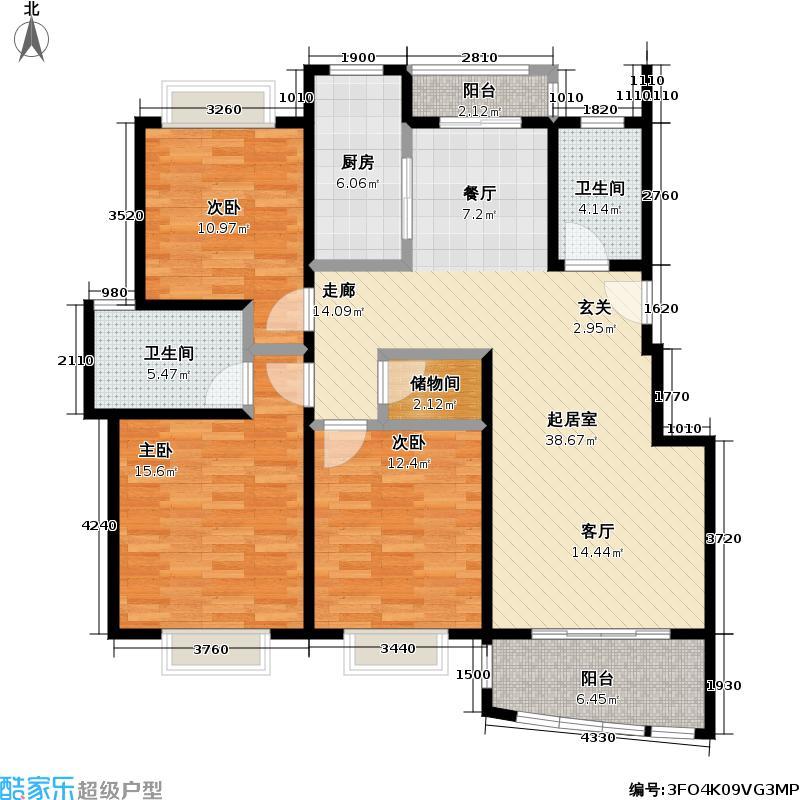 海立华亭118.00㎡房型户型