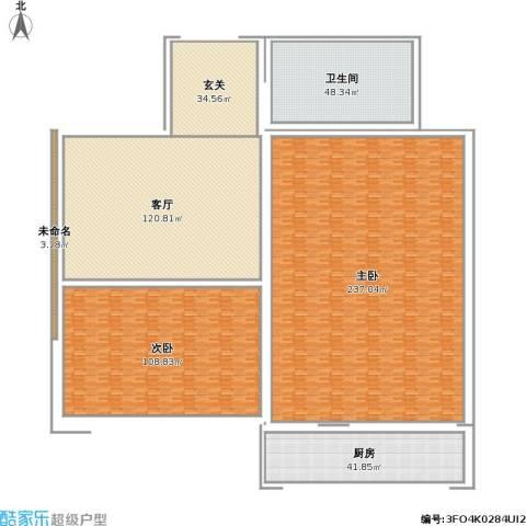 南顶村2室1厅1卫1厨763.00㎡户型图