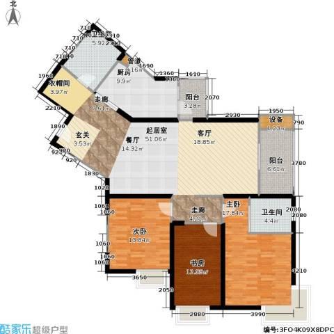 静安苏堤3室0厅2卫1厨175.00㎡户型图