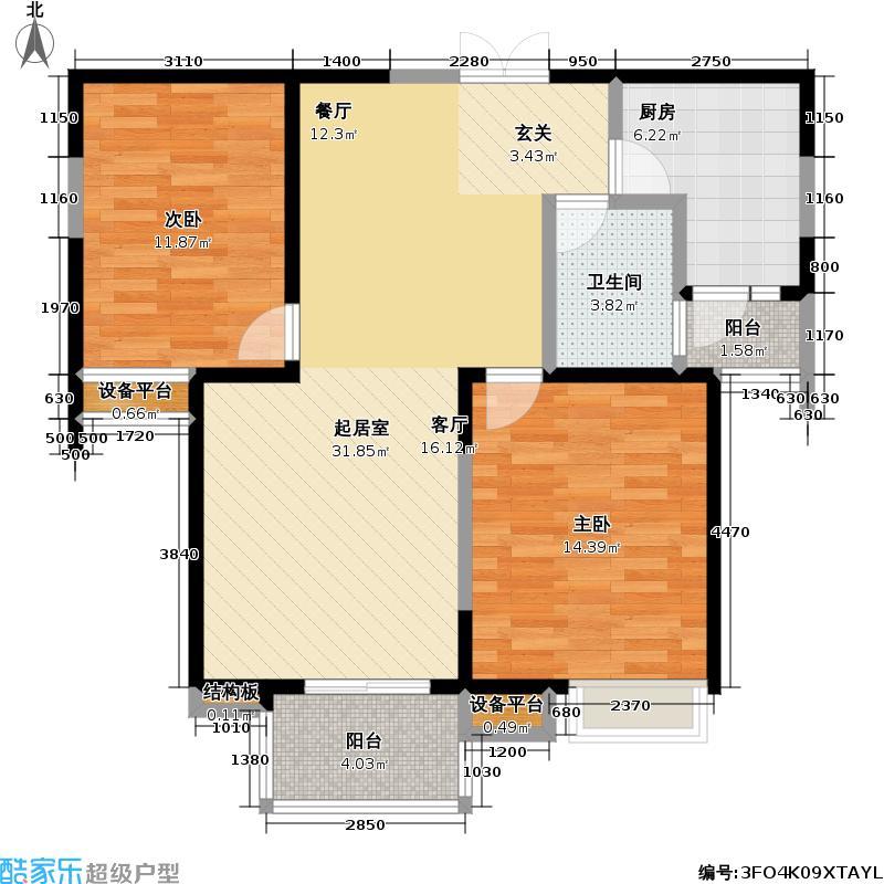未来街区85.00㎡房型户型