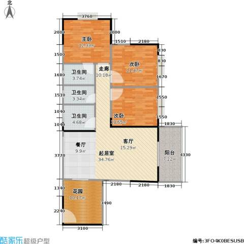 盛景郦城 昌福・盛景郦城3室0厅3卫0厨106.00㎡户型图