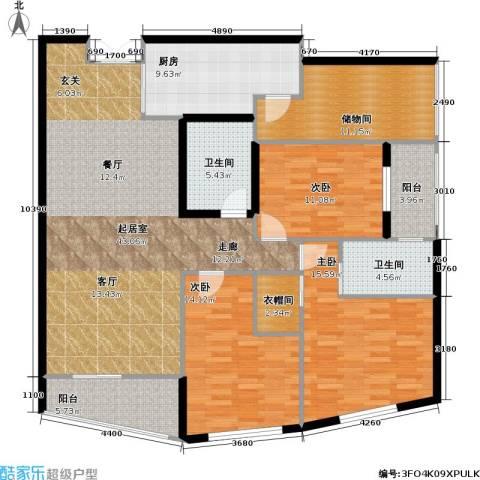 静安四季苑3室0厅2卫1厨140.00㎡户型图