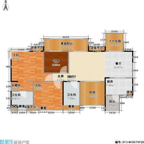 复地・上城国际公寓 上城国际公寓3室1厅2卫1厨178.00㎡户型图