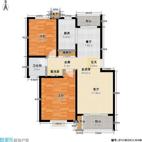滨河景城2室0厅1卫1厨81.58㎡户型图
