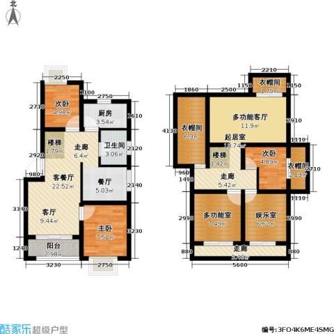 世纪飞凡二期3室1厅1卫1厨95.98㎡户型图