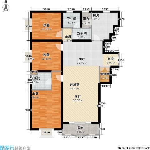光复新苑3室0厅2卫1厨143.00㎡户型图